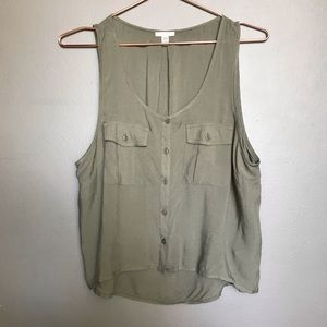 Ecote Sleeveless Button Down